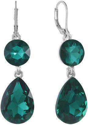 MONET JEWELRY Monet Jewelry Green Drop Earrings