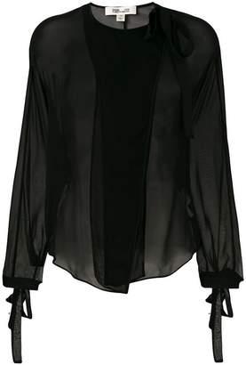 Diane von Furstenberg neck tie blouse