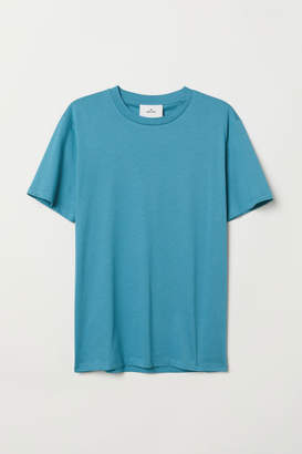 H&M Cotton and Silk T-shirt - Turquoise