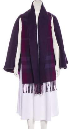 Burberry Merino Wool Exploded Check Cape