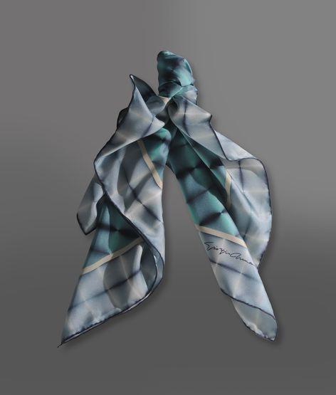 Giorgio Armani Silk Stole With Collection Print
