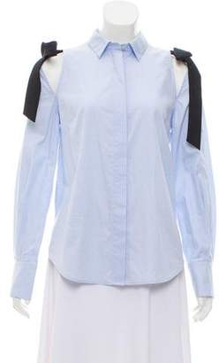 Rebecca Vallance Tie-Accented Button-Up Top