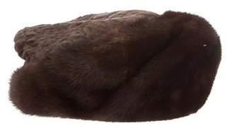Mink-Trimmed Broadtail Hat
