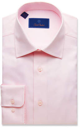 David Donahue Men's Regular-Fit Micro-Basketweave Dress Shirt