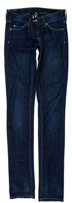 Isabel Marant Logo-Embellished Low-Rise Jeans