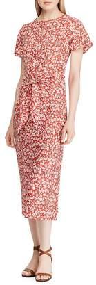 Ralph Lauren Floral Tie-Front Midi Dress