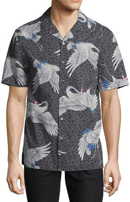 Claiborne Short Sleeve Camp Shirt