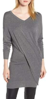 Trouve Seamed Drape Sweater