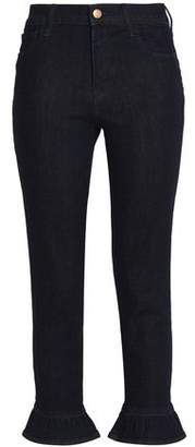 J Brand Fluted Cotton-Blend Skinny Pants