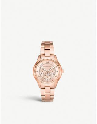 Michael Kors MK3983 Jet Set rose-gold stainless steel chronograph watch gift set
