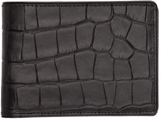Dries Van Noten Black Croc Wallet