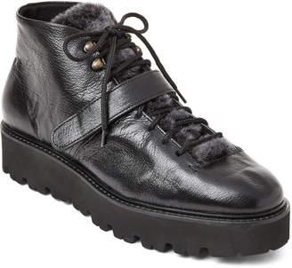 Mos Black Antony Real Fur Flatform Boots