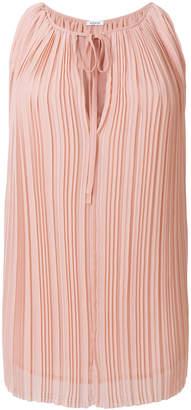 P.A.R.O.S.H. sleeveless pleated blouse