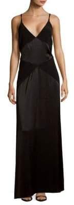 Zac Posen Criss-Cross Strap Gown