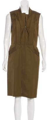 Oscar de la Renta Virgin Wool & Silk Midi Dress
