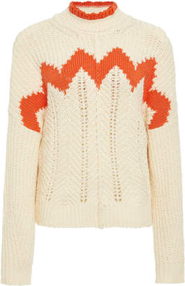 Isabel Marant Bell Intarsia Cotton And Wool-Blend Sweater
