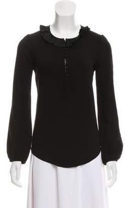 Etoile Isabel Marant Ruffled Long Sleeve Top