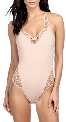 Women's Kenneth Cole New York Wrapped In Love One-Piece Swimsuit $119 thestylecure.com