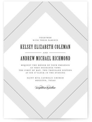 Pinstripe Wedding Invitations