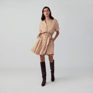 Fame & Partners Full Skirt Shirtdress