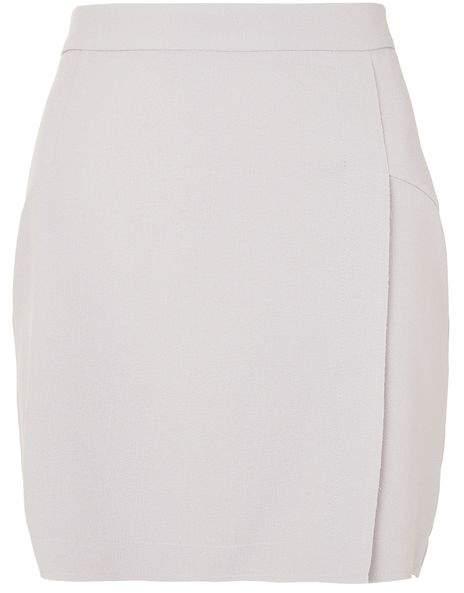 TopshopTopshop Raw edge wrap mini skirt