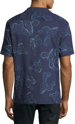 Antony Morato Men's Prickly Pear Printed Button-Front Shirt