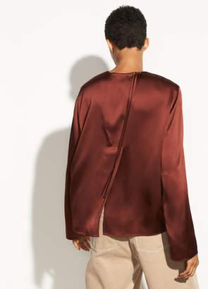 Tie Back Silk Blouse