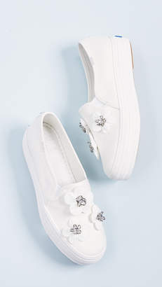 Keds x Kate Spade Triple Decker Flowers Slip On Sneakers