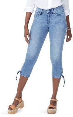 NYDJ Lace-Up Hem Denim Capris