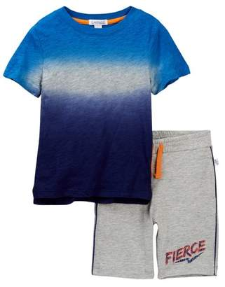Flapdoodles Dip-Dye Tee & Shorts Set (Toddler & Little Boys)