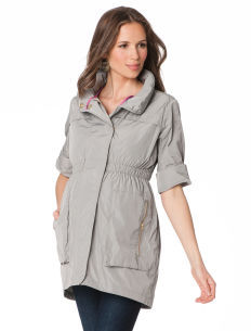 A Pea in the Pod Convertible Sleeve Maternity Jacket