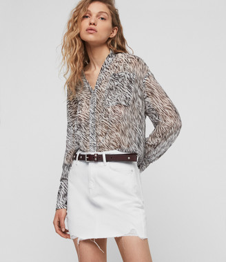 AllSaints Betty Denim Skirt