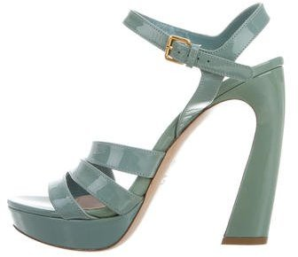 Miu Miu Miu Miu Patent Leather Multistrap Sandals