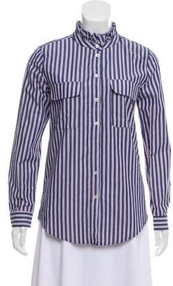 Anine Bing Striped Button-Up Top