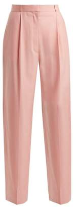 The Row Elin Tailored Wool Trousers - Womens - Pink