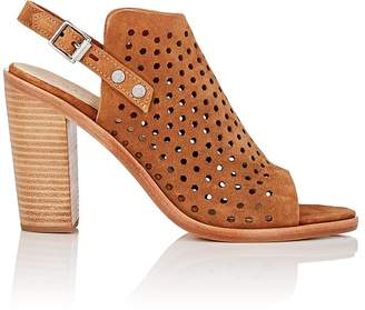 Rag & Bone WOMEN'S WYATT PERFORATED SUEDE SLINGBACK SANDALS