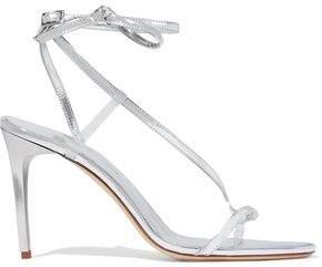 Oscar de la Renta Metallic Leather Sandals