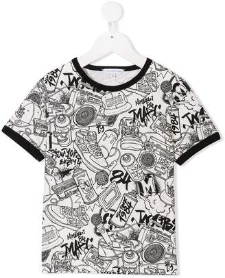 Little Marc Jacobs graffiti logo print T-shirt