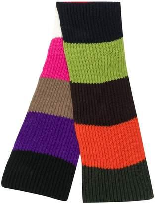 P.A.R.O.S.H. ribbed striped scarf
