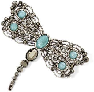 Liz Claiborne Blue Stone Silver-Tone Dragonfly Pin