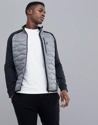 Peak Performance Helium Hybrid Jacket Melange In Gray