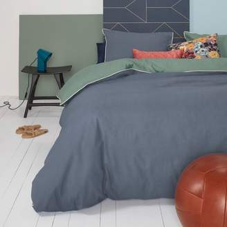 Oilily Deep Lagoon Blue & Green Cotton Quilt Cover Set