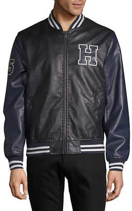 Tommy Hilfiger Varsity Logo Faux-Leather Jacket