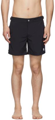 Alexander McQueen Navy Solid Swim Shorts