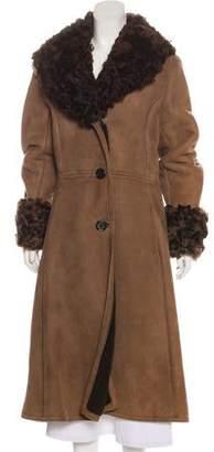 Fur Suede Long Coat