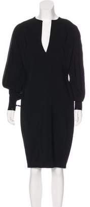Givenchy V-Neck Midi Dress