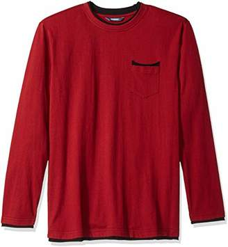ROBUST Men's Round Neck Full Sleeve Raw Edges Detailing T-Shirt (Size-)