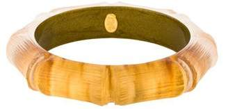 Alexis Bittar Lucite Bamboo Bangle