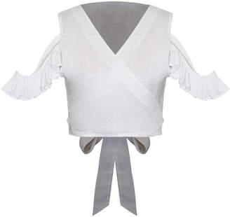 All Things Mochi Alika Linen Wrap Top