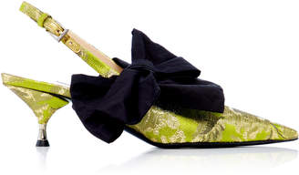 Prada M'O Exclusive Brocade Slingback Pumps